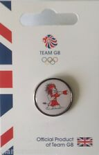 OFFICIAL TEAM GB RIO 2016 PRIDE MASCOT BOXING PIN - LIMITED EDITION BOXING PIN