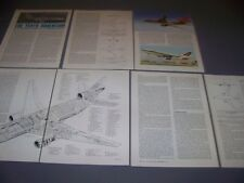 VINTAGE..MCDONNELL DOUGLAS DC-10..3-VIEWS/CUTAWAY/SPECS/DETAILS...RARE! (849E)