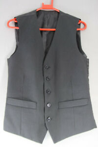 BRAND NEW GARETH SOUTHGATE ENGLAND STYLE BLACK PINSTRIPED WAISTCOAT 34 INCH