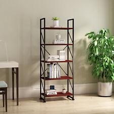 Yitahome 5 Tier Heavy Duty Metal Shelf Bookcase Bookshelf Storage Display Rack