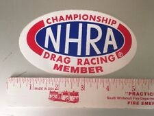 NHRA Championship Member Drag Racing Dragster Sticker/Decal