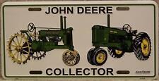Aluminum John Deere Collector antique tractors License Plate NEW