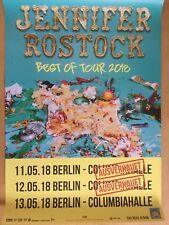 JENNIFER ROSTOCK  2018 BERLIN - orig.Concert Poster -- Konzert Plakat  A1 NEU