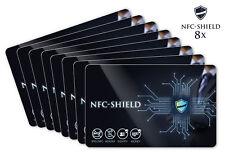 8x NFC Shield Card - RFID & NFC Schutz / Blocker Karte für EC & Kreditkarten