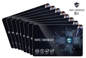8x NFC Shield Card - RFID & NFC Blocker Karte für EC & Kreditkarten - Ultradünn