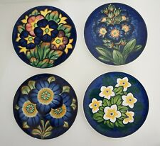 Royal Copenhagen Arets Blomst Country Flower Plates Set 4 Daisy Night Morning