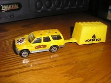 RARE Very Nice Majorette Circus Toyota 4 Runner & a hitched up Horse Box Trailer