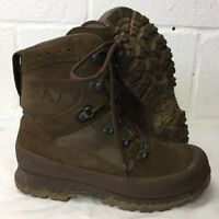 HAIX BROWN LEATHER HIGH LIABILITY COMBAT BOOTS - Size: 10 w  British Army