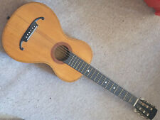 "very small & old German parlour guitar, ""repaired 1922"" beautiful 1 part back"