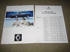Renault Clio, 19, 21, 25, Espace, Alpine Prospekt Brochure 6/1993 + Preisliste