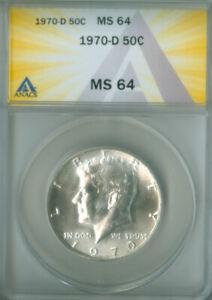 1970-D Kennedy Half Dollar 50C ANACS MS 64 (2126884)