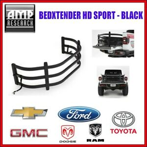 AMP Research BedXTender HD Sport Black For Chevy GMC Dodge Ram Ford Toyota