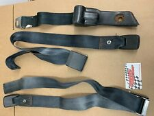 Mopar B Body Seat Belts 1968 1969 Coronet Charger Satellite RoadRunner Black OEM