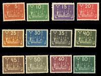 Sweden #197-208 MNH CV$520.00 1924 5o-80o CONGRESS
