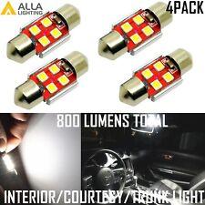 AllaLighting 4x 6000K LED Map,Dome,Courtesy,Trunk Light Bulb DE3175 Bright White