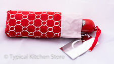 NEW Oroton Signature Umbrella Automatic Compact 24cm Small RRP $65 Red