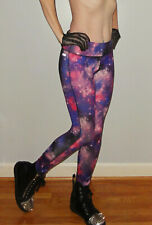 Galaxy Workout Leggings S outerspace pink purple exercise pinup celestial stars