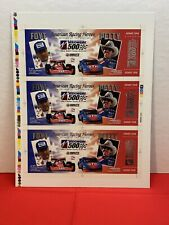 Vintage 1998 Visionaire 500 Pole Night Ticket Uncut Sheet Foyt Petty