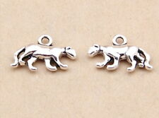 10pcs Leopard Panther Charms Old Silver DIY Jewelry Bracelet Pendant 12*18mm