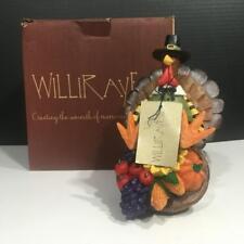 Williraye FFGH01501 TURKEY OF PLENTY Resin Thanksgiving Figurine On Wheels