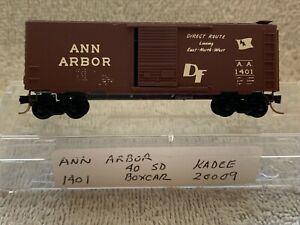 N Scale Kadee Ann Arbor 40' Boxcar #1401 AA 20009 -Direct Route -DF
