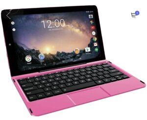 "RCA Cambio W101 V2 10.1"" Intel Atom 32GB/2GB RAM W10 2-in-1 Notebook/Tablet Pink"