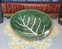 """Vintage Cabbage Leaf Round 6"""" Cereal Bowl"""