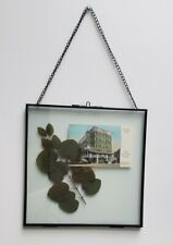 """Wall decor, picture in black metal frame 10""""x10"""""""