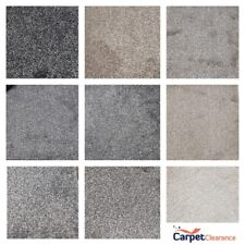 Carpet Remnant Soft Touch Thick Saxony Action Back 4 m Wide BLACK GREY BEIGE