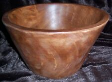 Pottery Barn Vintage Wood Carved Large Serve Bowl NEW Country folk