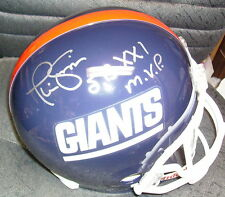 PHIL SIMMS NEW YORK GIANTS SIGNED & INSCRIBED FULL SIZE HELMET w/ COA SBXX1 MVP