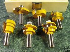 6pc 1/2 Carbide Tip ROUTER BIT SET w/ Wood CASE Brand New Many Shapes shaper big