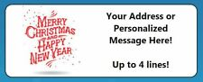 60 Personalized Merry Christmas & Happy New Year Return Address Labels