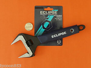 """EXTRA WIDE DEEP JAW SHIFTER ADJUSTABLE WRENCH 10"""" / 250mm ECLIPSE SHEFFIELD"""