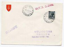 1954 TRIESTE A SIRACUSANA 5 STAMPE TRIESTE/SERVOLA 22/10 D/2641