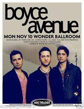 BOYCE AVENUE 2014 PORTLAND CONCERT TOUR POSTER - Pop/Alternative Rock Music