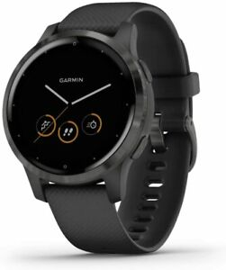Garmin Vivoactive 4, GPS Smartwatch, Features Music, Animated Workouts and more