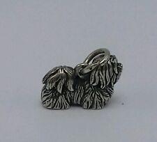 Retired James Avery Shih-Tsu Breed Dog 3-D Sterling Silver 925 Charm Pendant
