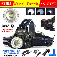 35000lm LED Headlamp Rechargeable Headlight Xm-l T6 Head Torch Light Lamp Camp