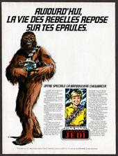 1983 STAR WARS Return of the Jedi Chewbacca Belt toy Vintage Original Print AD