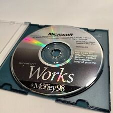 *Excellent* Microsoft Works & Money 98! Version 4.5 PC Software CD Disc w/ case