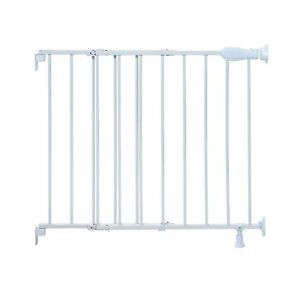 """Summer Top of Stairs Simple to Secure Metal Baby Pet Gate 29""""-42"""" W 30"""" H, White"""