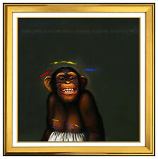 Donald Roller Wilson Oil Painting On Canvas Signed Shirley Chimpanzee Monkey Art
