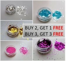Cosmetic Chunky Glitter Pot for Face, Body, Nails. Available in 12 Colours