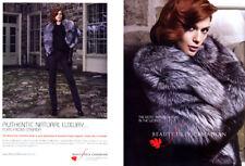 2007 Beautifully Canadian Fur Lynx Beaver Fox Chinchilla coat 6-page MAGAZINE AD