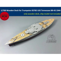 TMW 1/700 Wooden Deck for Trumpeter 05782 USS Tennessee BB-43 1944 Model