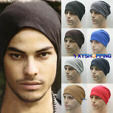 Mens Knitted Long Baggy Beanie Skull Cap Thin Summer Winter Slouch Fashion Hat