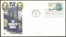 US FDC. US 1983 BROOKLYN BRIDGE 20C STAMP #2041,US FIRST DAY COVER BROOKLYN NY