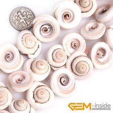 "17mm White Sea Shell Gemstone Whelk Shape Loose Beads For Jewelry Making 15"" YB"