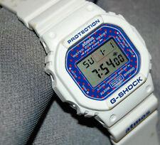 RARE! G-Shock DW-5600E-1 Atmos Limited Edition Blue polka-dotted Face New Batt!